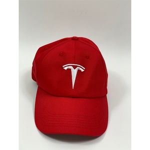 Tesla Red T Logo Hat New